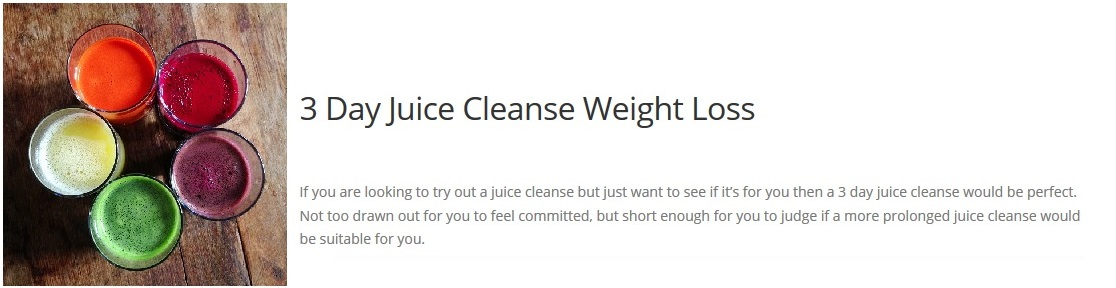 3 day cleanse for Can Juicing Help With Weight Loss