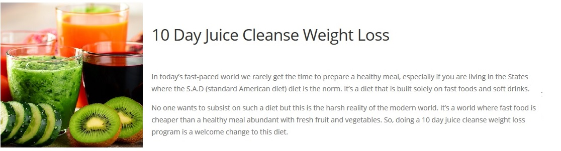 10 day juice cleanse for Can Juicing Help With Weight Loss