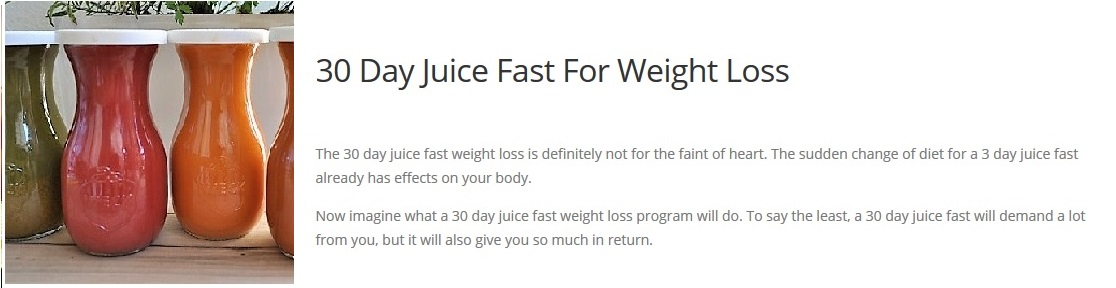 30 day cleanse for Can Juicing Help With Weight Loss