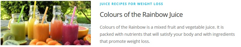 colours of the rainbow juice recipe for Juicing Recipes For Weight Loss