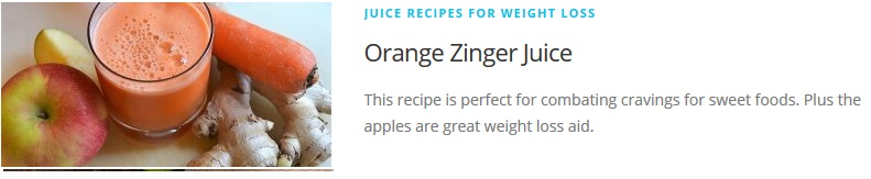 Orange Zinger juice recipe for Juicing Recipes For Weight Loss