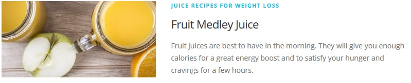 Fruit Medley juice recipe for Juicing Recipes For Weight Loss