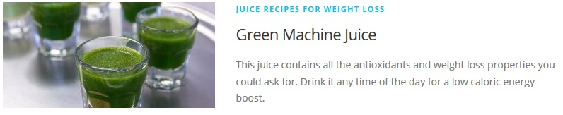 Green Machine juice recipe for Juicing Recipes For Weight Loss