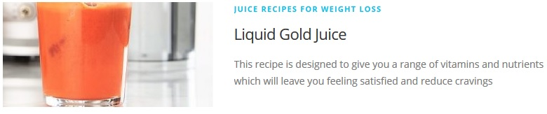 liquid gold juice recipe for Juicing Recipes For Weight Loss